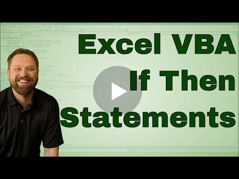 Creating an If Then Statement in Excel VBA (Macro) - Code Included