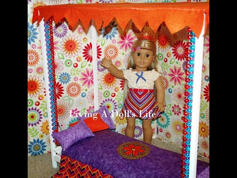 How To Make Julie's Canopy Bed - DIY