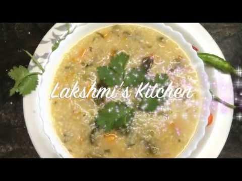 Varagu Rice Soup (Millet vegetable & Lentil soup) by Lakshmi Vadivel