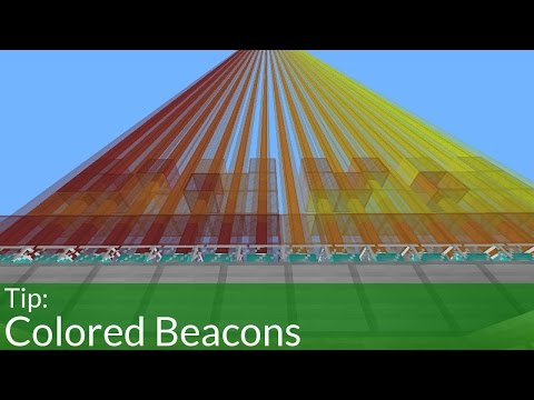 How To Make Colored Beacons in Minecraft!