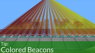 How To Make Colored Beacons In Minecraft