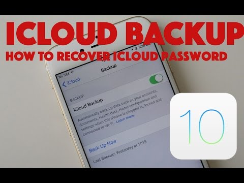 find icloud id password on iOS10 backups