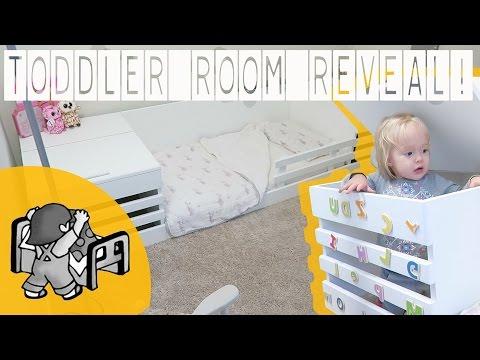 DIY TODDLER BED & ROOM REVEAL! | ThePfledPfam