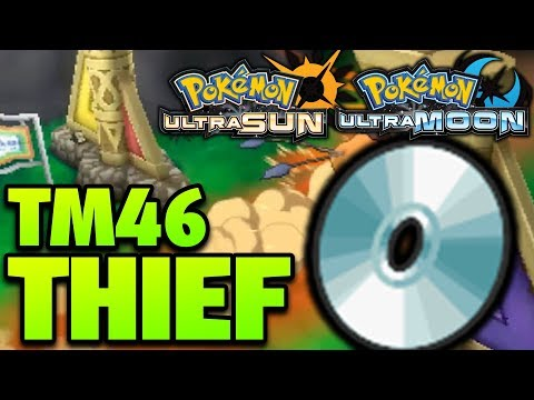 How to Get Thief Location – Pokemon Ultra Sun and Moon TM 46 Thief Location