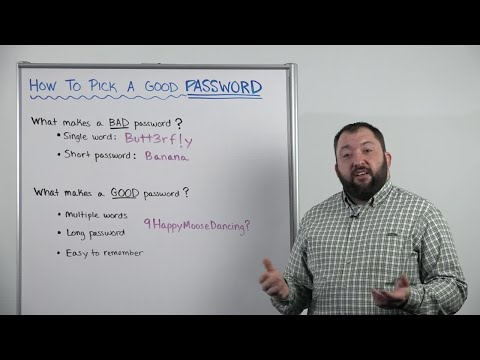 Whiteboard Wednesday: How To Pick a Good Password