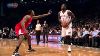 Andray Blatche impersonates MJ in the Air Jordan Taxi 12