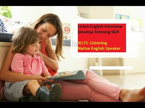 Develop English Listening skill for IELTS