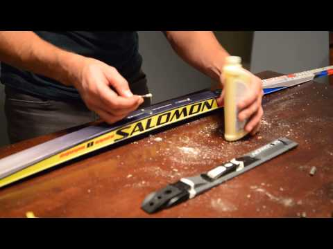 How to Mount Cross Country Ski Bindings - Skate Skis Salomon SNS Install
