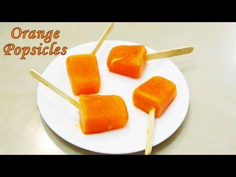 Orange Popsicles | Orange Ice Cream Recipe | Homemade Orange Popsicles | By CookwithND