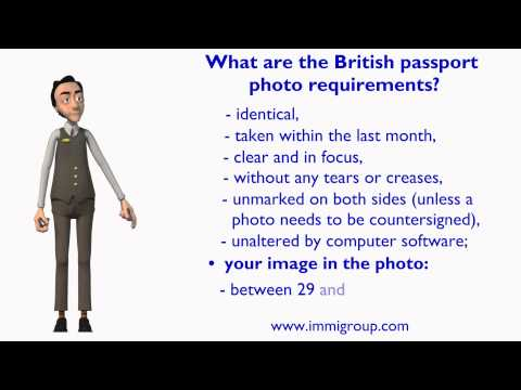 What are the British passport photo requirements?