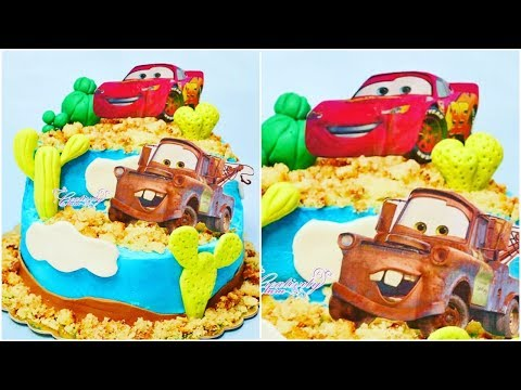 cars cake fondant tutorial - torta in pasta di zucchero saetta mc queen e chricchetto