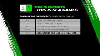 [LIVE] Esports @ SEA Games 2019 – DOTA2, AOV Playoffs & Mobile Legends (MLBB) Gold Medal Match