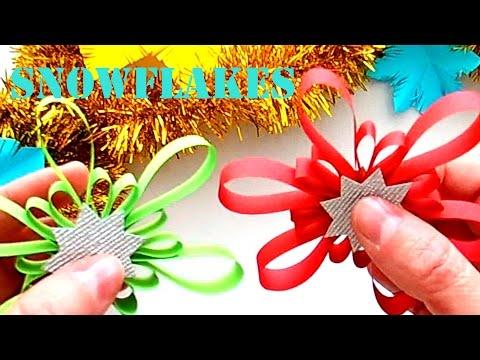 Make beautiful Snowflakes to Decorate. Decorate Christmas Snowflakes Stripes