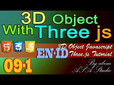 3D Object With Three Js, 9, Import 3D Object with Collada Part 1, Javascript Tutorial