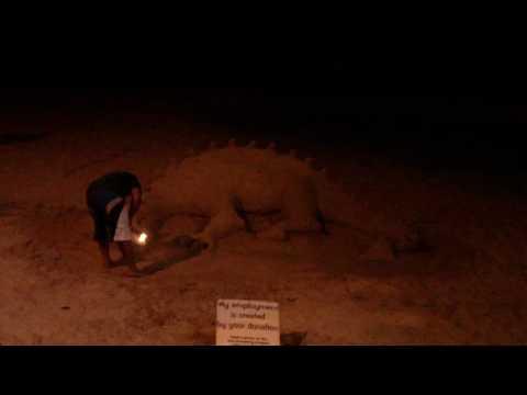 Dragon Sand Sculpture