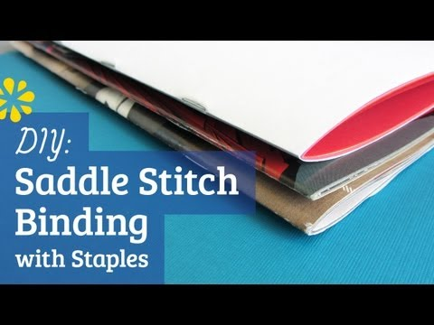 DIY Staple Saddle Stitch Bookbinding Tutorial | Sea Lemon