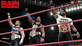 WWE 2K17 Custom Story - The Shield Wants All Titles Raw 2017 ft. Lesnar & Triple H - PART 7