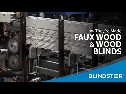 How Wood/Faux Wood Blinds are Made