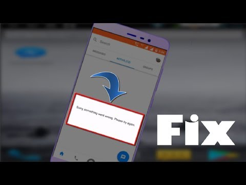 Fix Sorry Something Went Wrong Messenger Error in Android