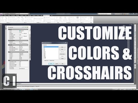 Autocad Tutorial: How to Change Crosshair Size & Color  - 2min Tip, Trick or Tutorial #2
