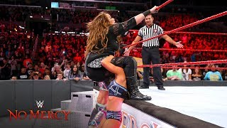 Nia Jax is hit hard with a quadruple-team powerbomb: WWE No Mercy 2017 (WWE Network Exclusive)