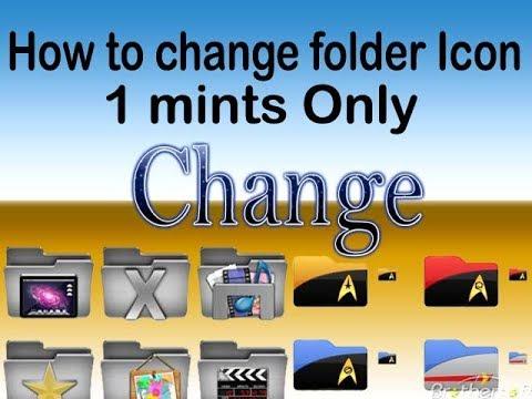 How to change Folder Customize icon | Lagaye folder ke jagah par apna photo