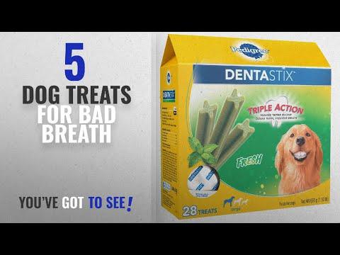 Top 5 Dog Treats For Bad Breath [2018 Best Sellers]: PEDIGREE DENTASTIX Fresh Large Treats for Dogs