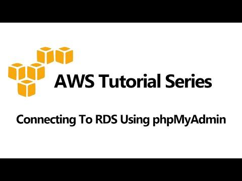 Connecting To RDS MySQL Using phpMyAdmin (EC2, RDS)