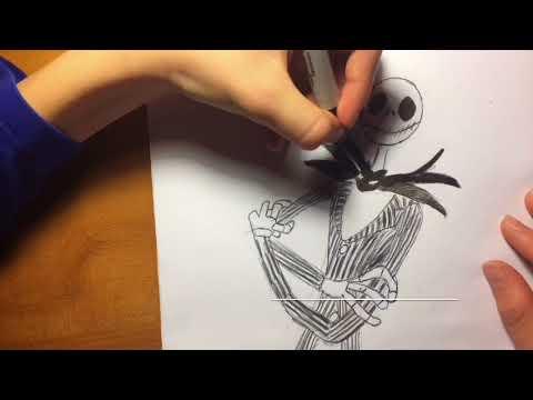 Drawing Jack Skellington