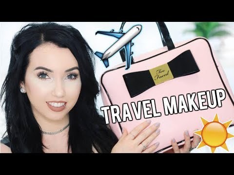 WHAT'S IN MY TRAVEL MAKEUP BAG?! Current Everyday Makeup