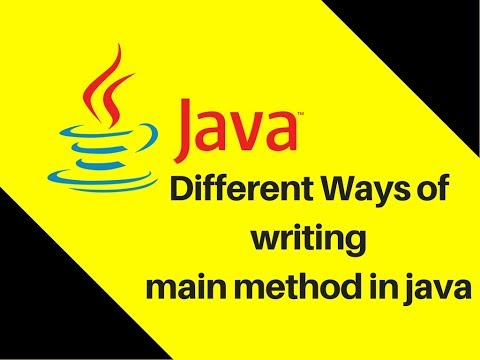 6.15 Different Ways of writing main method in java | Cool Tricks