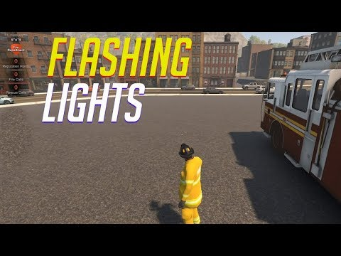 Flashing lights gameplay  - POLICE FIRE or EMS simulator -  Let's Play Flashing lights