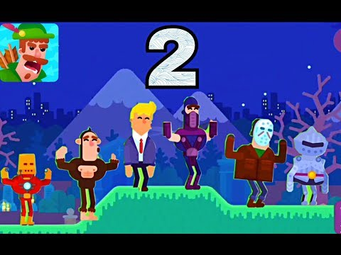 Bowmasters - Gameplay Walkthrough Part 2 - 7 New Characters - Best (iOS) (Android)