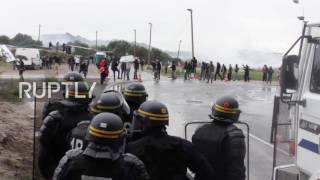France: Teargas, water cannon deployed on pro-refugee protesters in Calais