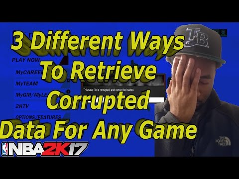 How To Fix NBA 2k17 Corrupted MYCAREER | How To Fix Corrupted Data On PS4 For Any Game!!!!