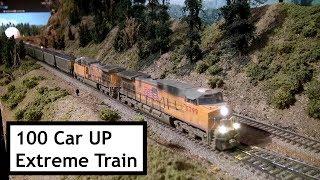 100 Car Union Pacific Coal Train At Extreme Trains November 2018