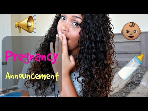 PREGNANCY ANNOUNCEMENT + CURL COCKTAIL WASH AND GO SERIES Ep.1