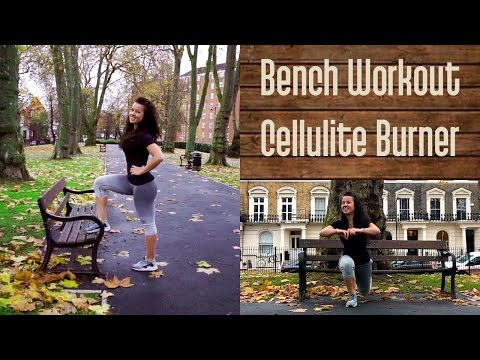 London Scenery || Bench Workout || Cellulite Burning HIIT for Women || No fluff just RESULTS!!