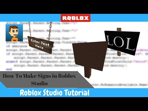 How To Make A Sign In ROBLOX Studio!