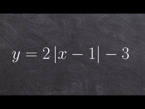How to graph absolute value functions using standard form