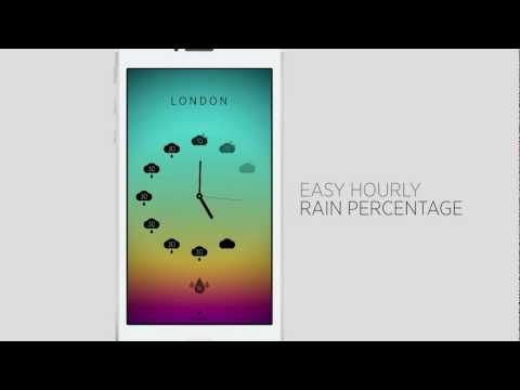 Climate Clock App for iPhone/iPod - Minimal Hourly World Weather Forecast [Best Weather App]