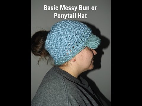 How To Make A Basic Messy Bun or Ponytail Hat