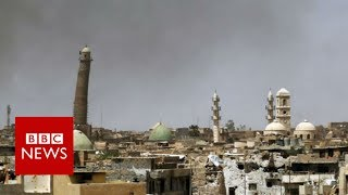 EXCLUSIVE: Destruction of al-Nuri mosque in Mosul- BBC News