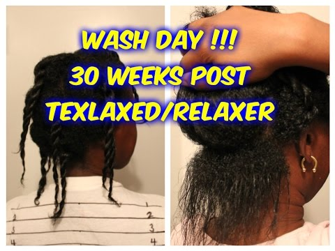 WASH DAY !!!..w/ WILD GROWTH OIL ''30 WEEKS'' POST TEXLAXER/RELAXER