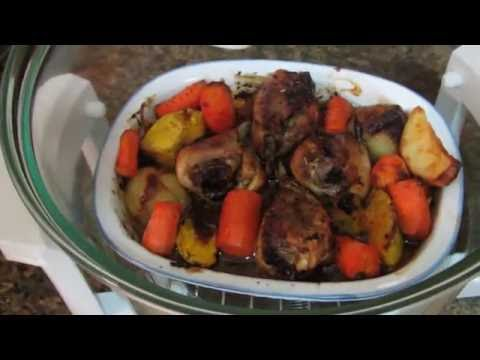 Convection Oven Roast Chicken Legs & Vegetable Medley