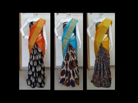 Latest Kalamakari Saree Designs With Phone Number - She Fashion