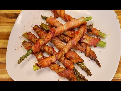 Bacon Wrapped Asparagus in the Big Boss Air Fryer - healthy recipes -air fryer cooking - airfryer