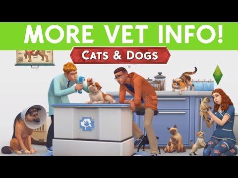 SIMS 4 CATS & DOGS - VET INFO!