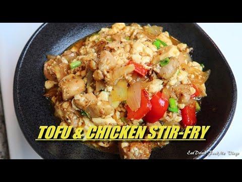 Easy Tofu Chicken Stir-fry - Cooking Vlogs#14