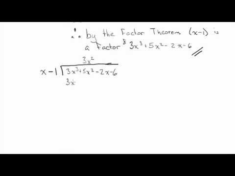 Using the Factor Theorem Example
